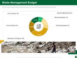 Waste Management Budget Hazardous Waste Management Ppt Download
