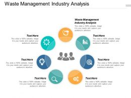 Waste Management Industry Analysis Ppt Powerpoint Presentation Summary Graphics Tutorials Cpb