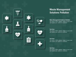 Waste Management Solutions Pollution Ppt Powerpoint Presentation Gallery Maker