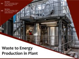 Waste To Energy Production In Plant