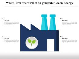 Waste Treatment Plant To Generate Green Energy