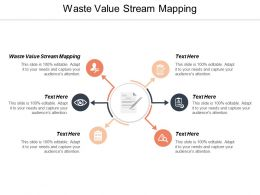 Waste Value Stream Mapping Ppt Powerpoint Presentation Infographics Microsoft Cpb