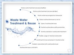 Waste Water Treatment And Reuse Regulatory Framework Ppt Microsoft