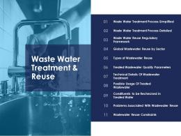 waste water treatment and reuse urban water management ppt microsoft