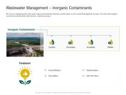 Wastewater Management Inorganic Contaminants Ppt Styles Grid