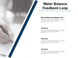 Water Balance Feedback Loop Ppt Powerpoint Presentation File Graphic Images Cpb