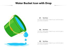 Water Bucket Icon With Drop