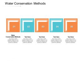 Water Conservation Methods Ppt Powerpoint Presentation File Templates Cpb