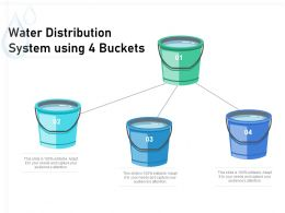 Water Distribution System Using 4 Buckets