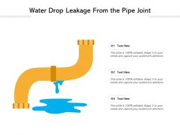 Water Drop Leakage From The Pipe Joint
