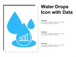 Water Drops Icon With Data