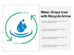 Water Drops Icon With Recycle Arrow
