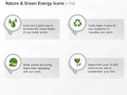 Water Drops Recycle Green Energy Protection Ppt Icons Graphics