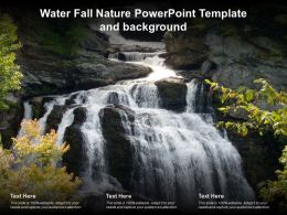 Water Fall Nature Powerpoint Template And Background