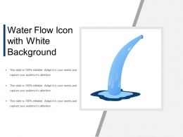 Water Flow Icon With White Background