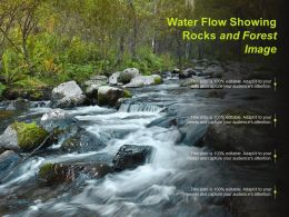 Water Flow Showing Rocks And Forest Image