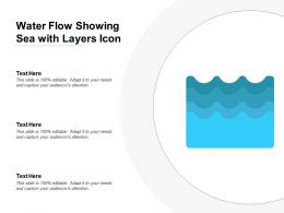 Water Flow Showing Sea With Layers Icon