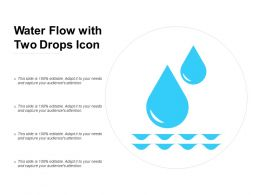 Water Flow With Two Drops Icon