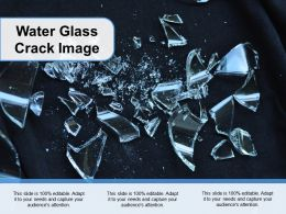 Water Glass Crack Image