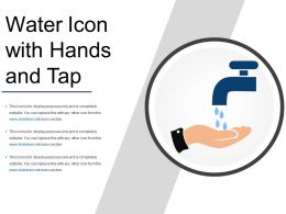 Water Icon With Hands And Tap
