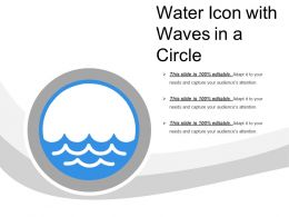 Water Icon With Waves In A Circle