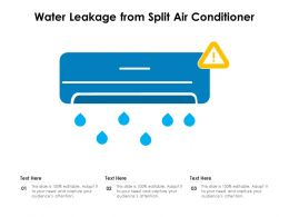 Water Leakage From Split Air Conditioner