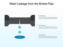 Water Leakage From The Broken Pipe