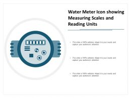 Water Meter Icon Showing Measuring Scales And Reading Units