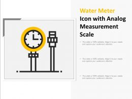 Water Meter Icon With Analog Measurement Scale