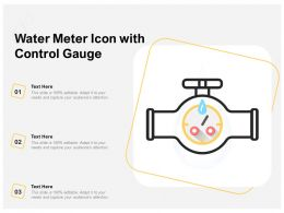 Water Meter Icon With Control Gauge