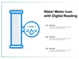 Water Meter Icon With Digital Reading