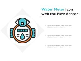 Water Meter Icon With The Flow Sensor