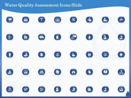 Water Quality Assessment Icons Slide Ppt Powerpoint Presentation Infographics Themes