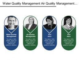 Water Quality Management Air Quality Management Channel Performance