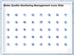 Water Quality Monitoring Management Icons Slide Ppt Powerpoint Presentation Deck