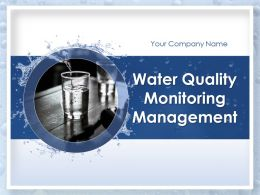 Water Quality Monitoring Management Powerpoint Presentation Slides