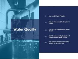 water quality urban water management ppt sample