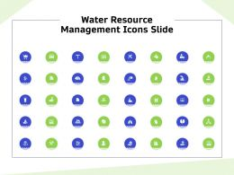 Water Resource Management Icons Slide Ppt Powerpoint Presentation Inspiration Diagrams