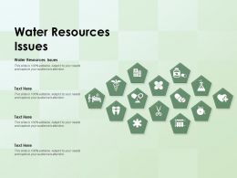 Water Resources Issues Ppt Powerpoint Presentation Inspiration Graphics Template