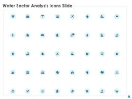 Water Sector Analysis Icons Slide Ppt Gallery Inspiration