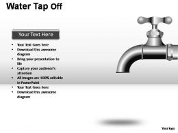 Water Tap On Off Powerpoint Presentation Slides
