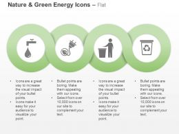 Water Tap Power Plug Recycle Bin Ppt Icons Graphics