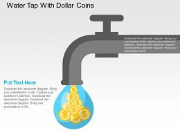 Water Tap With Dollar Coins Flat Powerpoint Design
