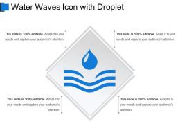 Water Waves Icon With Droplet