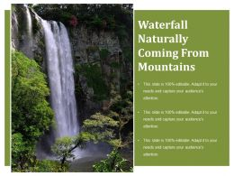 Waterfall Naturally Coming From Mountains