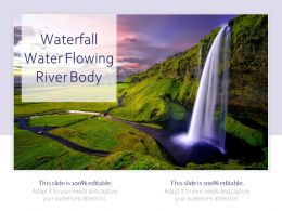 Waterfall Water Flowing River Body