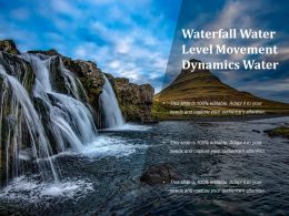 Waterfall Water Level Movement Dynamics Water