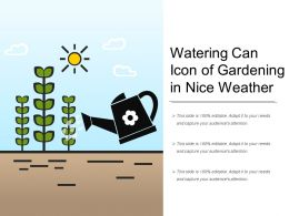 Watering Can Icon Of Gardening In Nice Weather