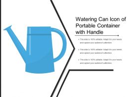 Watering Can Icon Of Portable Container With Handle