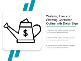 Watering Can Icon Showing Container Outline With Dollar Sign